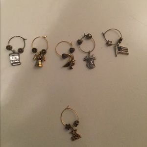 6 piece. Patriotic bracelet charms.